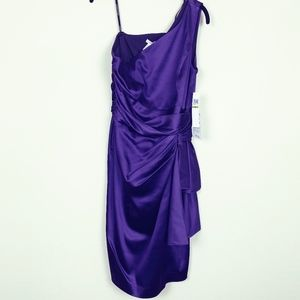 Maggy London Purple One Shoulder Dress NWT